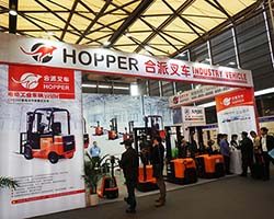 The Hopper forklift CeMAT ASIA 2016 is in full swing. We look forward to seeing you.